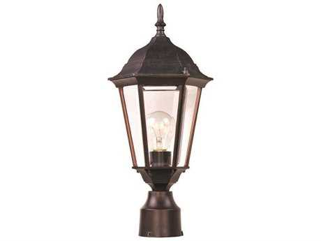 Maxim Lighting Westlake Empire Bronze & Clear Glass 8'' Wide Incandescent Outdoor Post Light