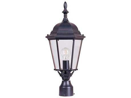 Maxim Lighting Westlake Empire Bronze & Clear Glass 9.5'' Wide Incandescent Outdoor Post Light