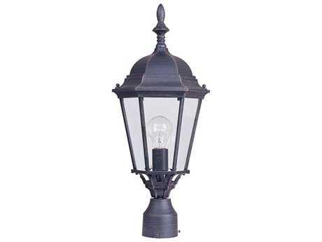 Maxim Lighting Westlake Rust Patina & Clear Glass 9.5'' Wide Incandescent Outdoor Post Light