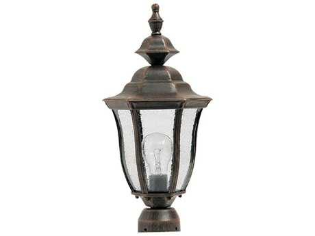 Maxim Lighting Madrona Rust Patina & Seedy Glass 8'' Wide Incandescent Outdoor Post Light