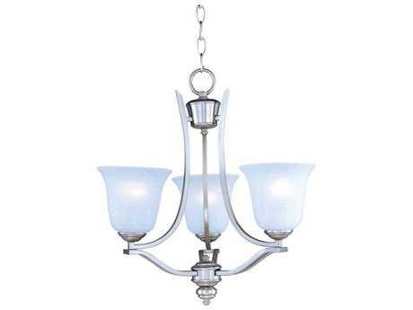 Maxim Lighting Madera Satin Silver Three-Light 19 Wide Mini-Chandelier