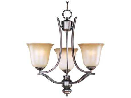 Maxim Lighting Madera Oil Rubbed Bronze Three-Light 19 Wide Mini-Chandelier