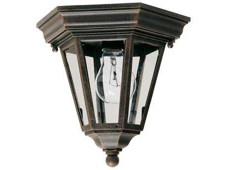 Maxim Lighting Westlake Rust Patina & Clear Glass 8'' Wide Incandescent Outdoor Ceiling Light