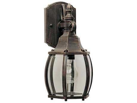 Maxim Lighting Crown Hill Rust Patina & Clear Glass 6.5'' Wide Outdoor Wall Light