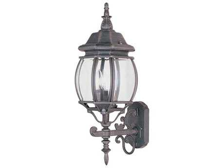 Maxim Lighting Crown Hill Rust Patina & Clear Glass Three-Light 8'' Wide Outdoor Wall Light