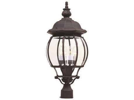 Maxim Lighting Crown Hill Rust Patina & Clear Glass Four-Light 10'' Wide Outdoor Post Light