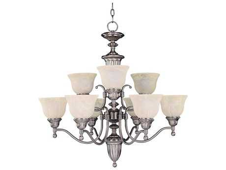 Maxim Lighting Soho Satin Nickel Nine-Light 30 Wide Chandelier