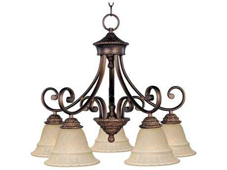 Maxim Lighting Brighton Oil Rubbed Bronze Five-Light 24 Wide Mini-Chandelier