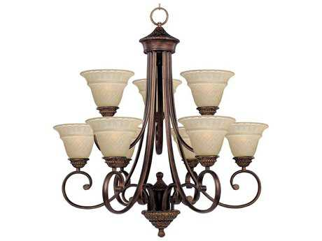 Maxim Lighting Brighton Oil Rubbed Bronze Nine-Light 29 Wide Chandelier