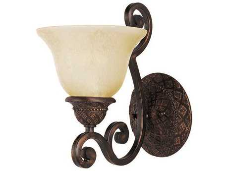 Maxim Lighting Symphony Oil Rubbed Bronze Wall Sconce with Soft Vanilla Glass