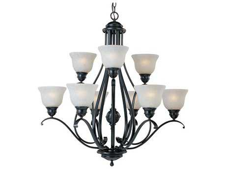 Maxim Lighting Linda Black Nine-Light 32.5 Wide Chandelier