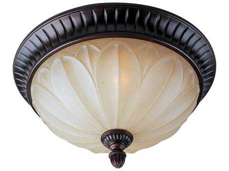 Maxim Lighting Allentown Oil Rubbed Bronze & Wilshire Glass Two-Light 15'' Wide Flush Mount Light