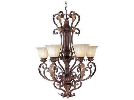 Maxim Lighting Augusta Auburn Florentine Five-Light 28'' Wide Chandelier
