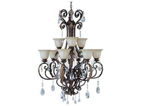 Maxim Lighting Augusta Auburn Florentine Nine-Light 34.5'' Wide Grand Chandelier