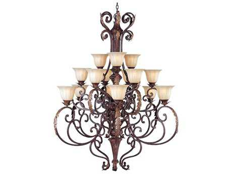 Maxim Lighting Augusta Auburn Florentine 15-Light 50 Wide Grand Chandelier