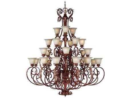 Maxim Lighting Augusta Auburn Florentine 27-Light 60.5 Wide Grand Chandelier