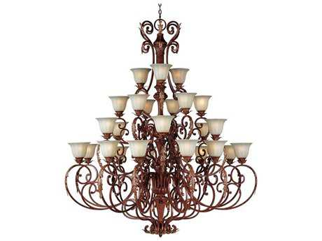 Maxim Lighting Augusta Auburn Florentine 27-Light 60.5'' Wide Grand Chandelier