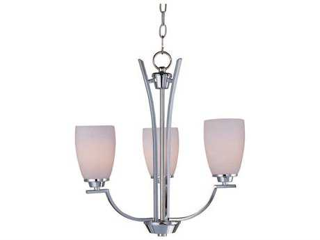 Maxim Lighting Rocco Polished Chrome Three-Light 19 Wide Mini-Chandelier