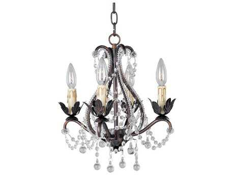 Maxim Lighting Katherine Oil Rubbed Bronze Four-Light 14 Wide Mini-Chandelier
