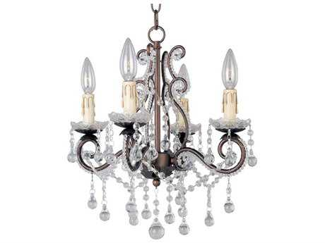 Maxim Lighting Katherine Oil Rubbed Bronze Four-Light 15 Wide Mini-Chandelier