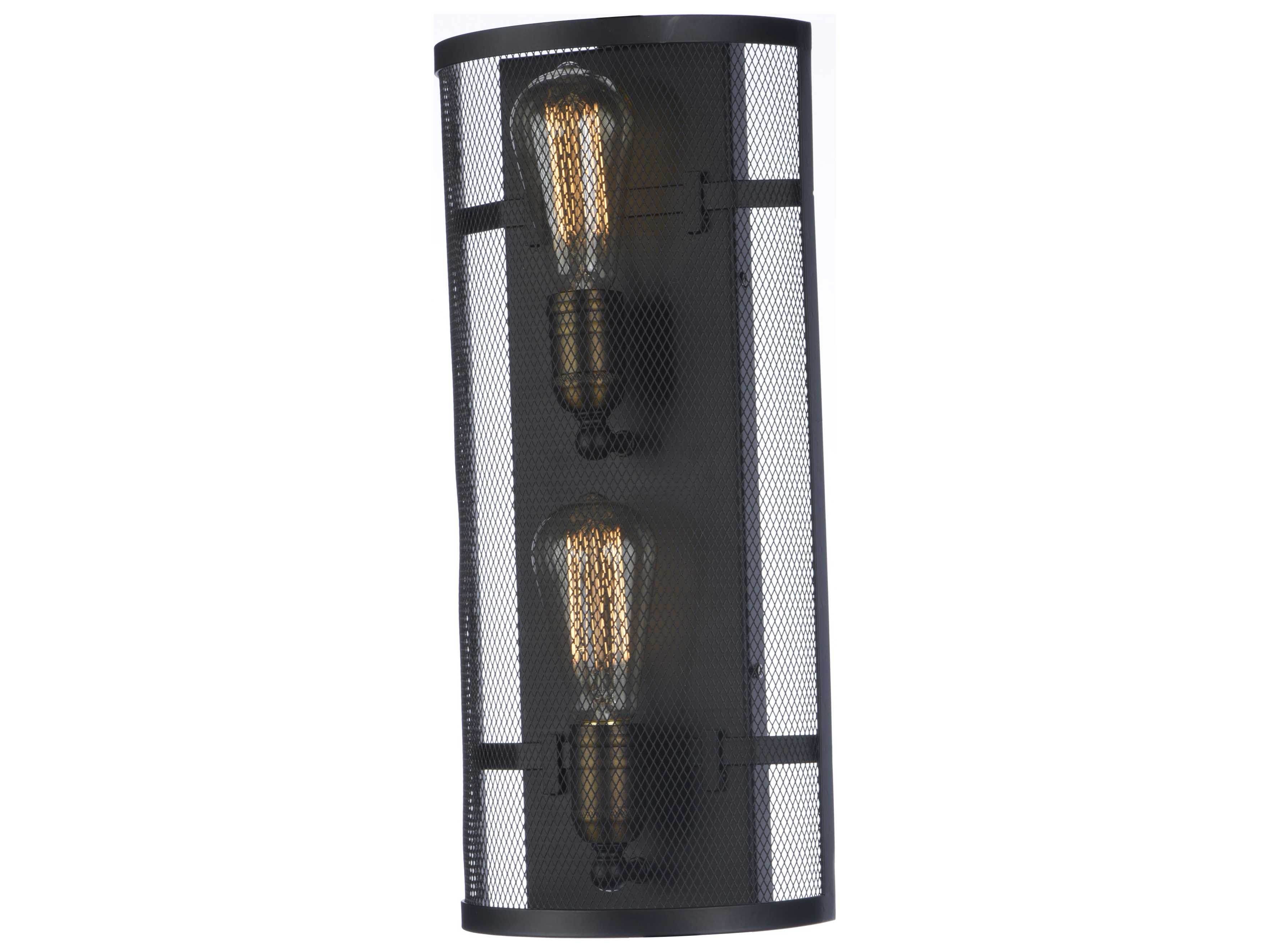 Wall Sconces Without Lights : Maxim Lighting Palladium Black & Natural Aged Brass Two-Light Wall Sconce without Bulb ...