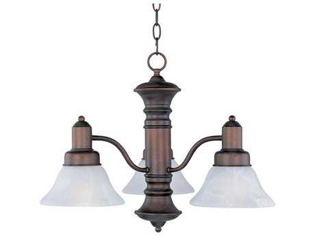 Maxim Lighting Newburg Oil Rubbed Bronze Three-Light 22.5 Wide Mini-Chandelier