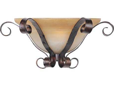 Maxim Lighting Aspen Oil Rubbed Bronze & Vinatge Amber Glass Wall Sconce