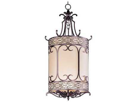 Maxim Lighting Mondrian Umber Bronze Six-Light 25'' Wide Pendant Light