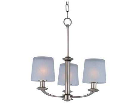 Maxim Lighting Finesse Satin Nickel Three-Light 18.5 Wide Mini-Chandelier