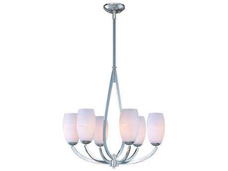 Maxim Lighting Elan Polished Chrome Six-Light 26.25 Wide Chandelier