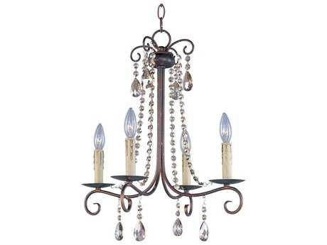 Maxim Lighting Adriana Urban Rustic Four-Light 18 Wide Mini-Chandelier