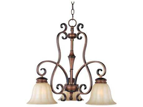 Maxim Lighting Fremont Platinum Dusk Three-Light 23 Wide Mini-Chandelier