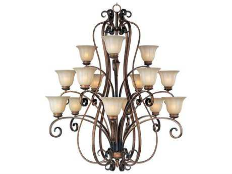 Maxim Lighting Fremont Platinum Dusk 15-Light 46 Wide Grand Chandelier