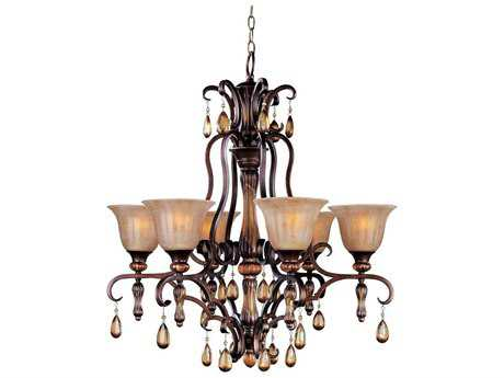 Maxim Lighting Dresden Filbert Six-Light 30 Wide Chandelier
