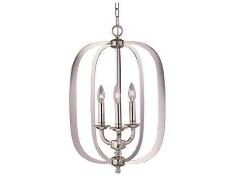 Maxim Lighting Fairmont Polished Nickel Three-Light 16'' Wide Pendant Light