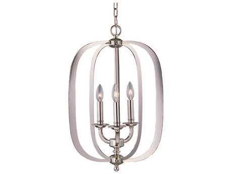 Maxim Lighting Fairmont Polished Nickel Three-Light 16'' Wide Pendant Light
