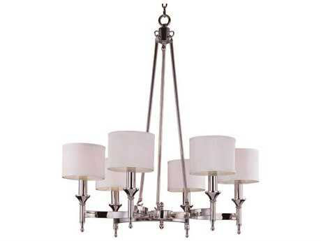 Maxim Lighting Fairmont Polished Nickel Six-Light 30 Wide Chandelier