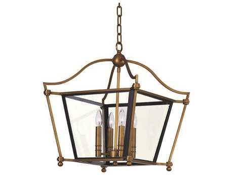 Maxim Lighting Ritz Natural Aged Brass Four-Light 26 Wide Chandelier