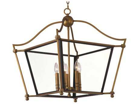 Maxim Lighting Ritz Natural Aged Brass Five-Light 31.5 Wide Chandelier
