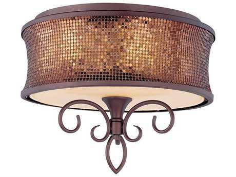 Maxim Lighting Alexander Umber Bronze Three-Light 17'' Wide Semi-Flush Mount Light