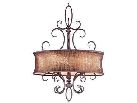 Maxim Lighting Alexander Umber Bronze Six-Light 32'' Long Island Light