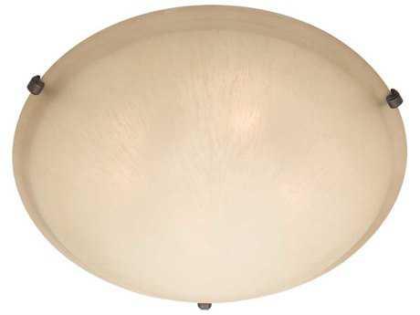 Maxim Lighting Malaga Oil Rubbed Bronze & Wilshire Glass Three-Light 16'' Wide Flush Mount Light