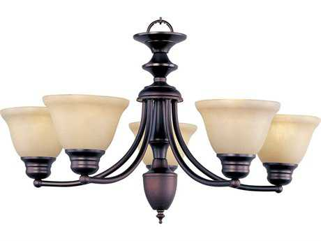Maxim Lighting Malaga Oil Rubbed Bronze Five-Light 25 Wide Chandelier