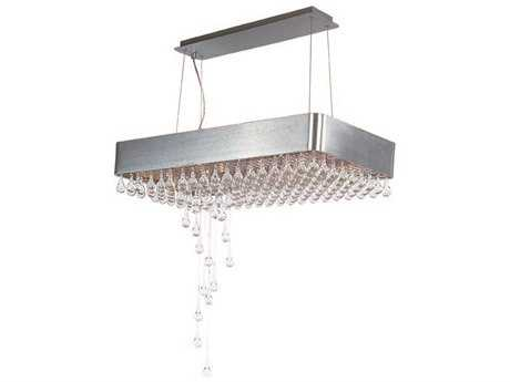 Maxim Lighting Drops Brushed Aluminum & Clear Glass 15-Light 31.5'' Long Island Light