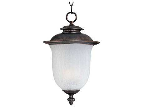 Maxim Lighting Cambria Chocolate & Frost Crackle Glass Two-Light 10'' Wide Incandescent Outdoor Hanging Light