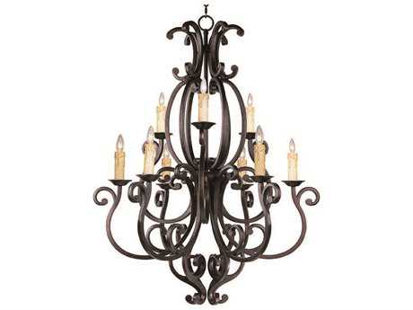 Maxim Lighting Richmond Colonial Umber Nine-Light 37.5 Wide Chandelier