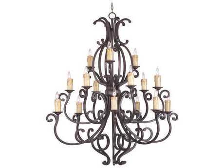 Maxim Lighting Richmond Colonial Umber 15-Light 50.5 Wide Grand Chandelier