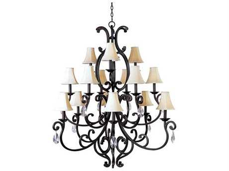 Maxim Lighting Richmond Colonial Umber 15-Light 50.5'' Wide Grand Chandelier