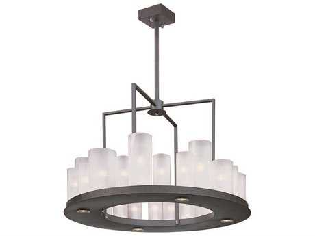 Maxim Lighting Urban Nights Textured Black & Frosted Glass  28-Light 28'' Wide Pendant Light