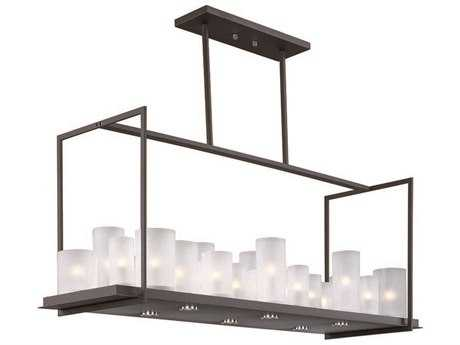 Maxim Lighting Urban Nights Textured Black & Frosted Glass 29-Light 47'' Long Island Light